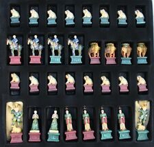 "ANCIENT CHINESE CHESS SET, TANG DYNASTY . BOARD 19X19"" KING 4-3/8"" HIGH"