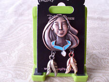 Disney* PRINCESS POCAHONTAS * Bronze Sculpture Style w/ Dangles New Trading Pin