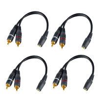 4x Audio Kabel - 3,5mm Buchse auf 2x Cinch - RCA zu Jack, Chinch zu AUX Buchse