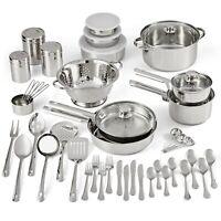 Stainless Steel Cookware Set Cooking Pots Frying Pans Kitchen Utensils Tools
