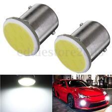 2x 1156 BA15S P21W Super Bright White 1 COB LED Reverse Backup Light Bulb Lamp