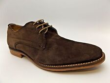 Base London BAYHAM Mens Suede Cushioned Lace Up Derby Shoes Brown SZ 10.0 M 4115
