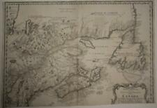 CANADA 1755 HOMANN HEIRS & BELLIN UNUSUAL ANTIQUE ORIGINAL COPPER ENGRAVED MAP