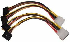 """3 Pack IDE Molex 4-Pin DUAL SATA 15-Pin 8 inch Power Splitter Y Adapter Cable 8"""""""