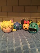 LOT OF 4 FUNKO DISNEY MINNIE MOUSE ELSA SULLY STICH HEAD FIGURES 2016