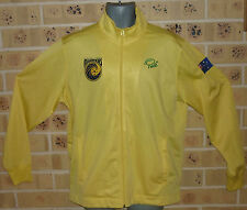 NEW LARGE MENS CENTRAL COAST MARINERS ZIPPED TOP TRACK TOP YELLOW GREAT COND