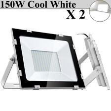 2X 150W LED Flood Light Bright White Outdoor Security Work Spotlight Lighting