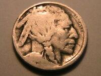 "1916-D Buffalo Nickel ""G"" Good+ Original Grey Toned Indian Head 5 Cent USA Coin"