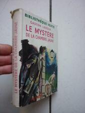 BIBLIOTHEQUE VERTE / LEROUX / LE MYSTERE DE LA CHAMBRE JAUNE / JACQUETTE 1953