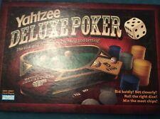 YAHTZEE DELUXE POKER DICE FAMILY BOARD GAME  FREE UK POST