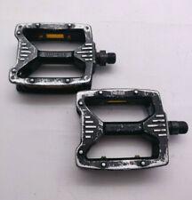 "Vintage 1980s MKS MP-303 BMX Metal Pedals - Black - 9/16"""