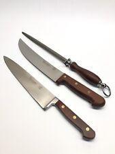 New listing Dexter Russell Connoisseur Knifes 50-10, 32-10 & 10� Sharpener All Wood Handles