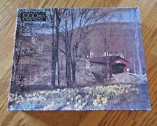 Whitman Covered Bridge Jigsaw Puzzle 1000 Pieces Factory Sealed 455