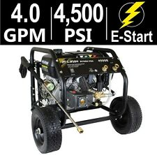 Gas Powered Pressure Washer Commercial Professional 4500 PSI 15 HP 50 Ft Hose