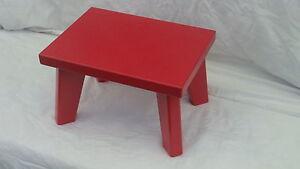 Handmade Pine/MDF,Red Children StepStool, Kids Stool,Chair (Sturdy)Boys&Girls