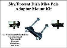 Sky Freesat Dish Mk4 Pole Adaptor Mount KIT Sky HD SKY+