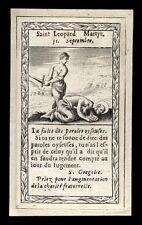 santino incisione 1600 S.LEOPARDO M.
