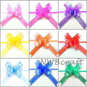 Small Butterfly Pull Bows, Luxury Ribbon Bow, Wedding, Party, Xmas, Gift Wrap
