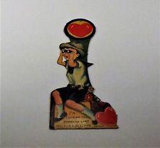 "Vintage 1940's Valentine Card Mechanical Germany Boy Binoculars 7 1/4"" x 2 7/8"""""