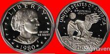 1980 S Susan B Anthony Deep Cameo Gem Proof No Reserve