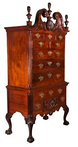 SWC-The Baron Steigel Chippendale Carved Mahogany Highboy, c.1755