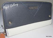 Guess Jeans Wallet CheckBook Holder Handbag  Purse Hand Bag Tote Coin Zip NWT