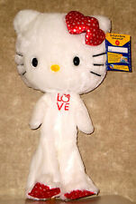 Build a Bear Love Hello Kitty White Red Hearts Unstuffed 18in. Plush Teddy Doll
