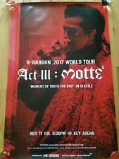 G-DRAGON ACT III - M.O.T.T.E  SEATTLE SHOW POSTER 24X36