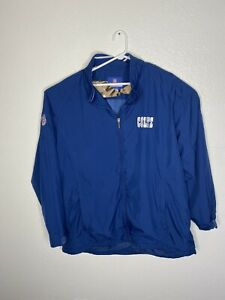 Reebok Indianapolis Colts NFL On Field Zip Up Blue Jacket Mens XL