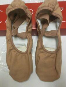 Hanami ballet shoe ladies 10W LSN 2037W light suntan split sole canvas