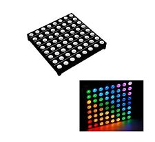 1PCS 5mm 8*8 8x8 Full Colour RGB LED Dot Matrix Display Module Common Anode U