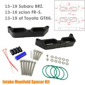 Car Aluminum Intake Manifold Spacer Fit For Subaru BRZ Scion FR-S Toyota GT86