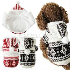 Pet Dog Snowflake Print Winter Coat Jacket Puppy Cat Coral Fleece Hoodie Clothes