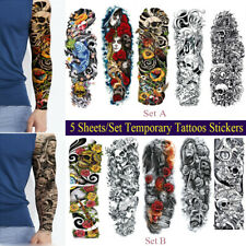 10 Sheets Tattoo Waterproof Large Arm Body Art Tattoos Sticker Temporary Sleeve