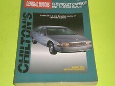 1990-1993 CHEVROLET CAPRICE SHOP SERVICE MANUAL CHILTON'S REPAIR BOOK 12 PICTURE