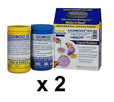 2 PACK Smooth-On Oomoo 30 Silicone - Mold Making - Trial Units 2 Pints Each Kit