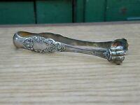 Pince à Sucre en Argent Massif Minerve Silver Silber Décor Floral