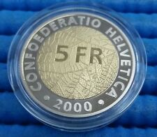 2000 Switzerland 150th Anniversary of  the Swiss Franc 5 FR Commemorative Coin