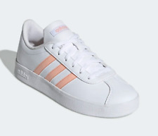 adidas Kids Youth Girls Essentials VL Court 2.0 Shoes White / Pink US 4