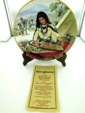 "HAMILTON, NOBLE AMERICAN INDIAN WOMEN ""SACAJAWEA"" COLLECTORS PLATE, BOX & COA."