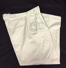 NWT Botany 500 Pants Men's Size 36/29 Natural Pleated Front Cuffed Bottom Hem