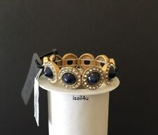 Bracelet Nwt Authentic With Pouch J.Crew Factory Gemstone Cones Stretch