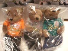 Salvino's Bammers Base Balls Plush Bears Set of 3 Le