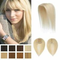 Clip In 100% Human Hair Blonde Toppers Crown Hair Pieces Toupees For Thinning Lo