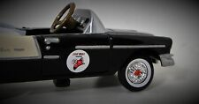 1955 Chevy Pedal Car Vintage Sport Hot Rod Show Black Midget Metal Model