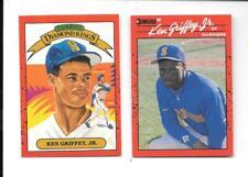 KEN GRIFFEY JR 1990 DONRUSS (2) CARD LOT #'S DK4, 365 SEATTLE MARINERS