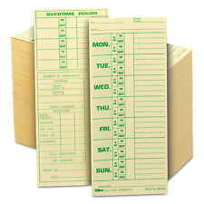 TOPS Time Card for Pyramid Model 331-10 Weekly Two-Sided 3 1/2 x 8 1/2 500/Box