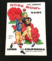 🏈1959 ROSE BOWL IOWA HAWKEYES vs CALIFORNIA BEARS FOOTBALL PROGRAM  🏈🌹