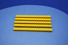 LEGO 5 x Technik Technic Lochstein 1x16 15 Löcher gelb yellow brick 3703 370324