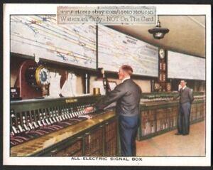All Electric Train Position Signal Box Railroad Track c80 Y/O Trade Ad Card